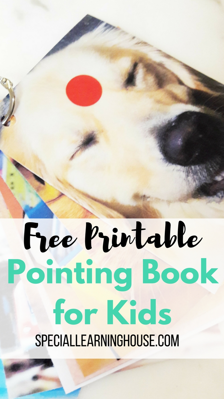 free printable pointing book for kids special learning house