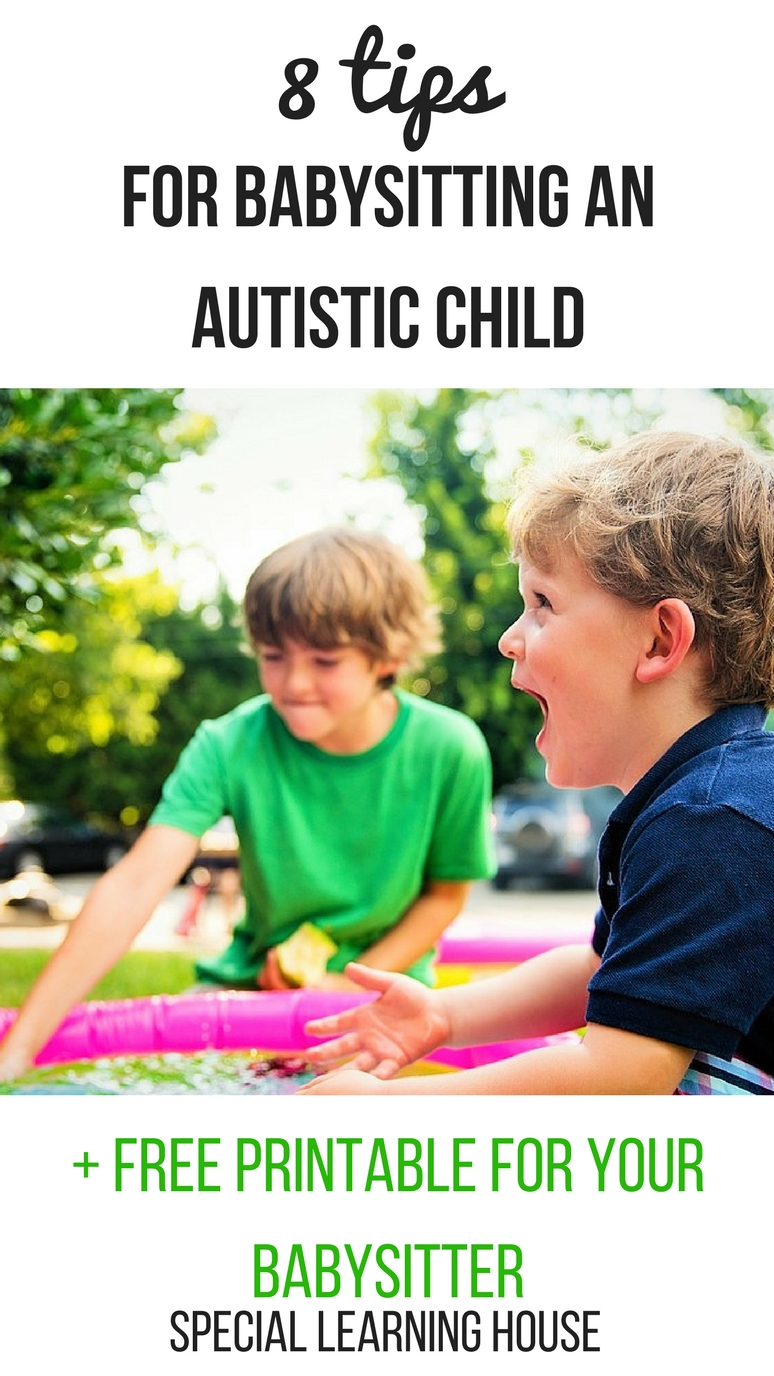 8 tips for babysitting an autistic child    free printable